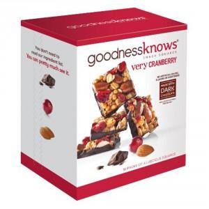 goodness knows granola bars