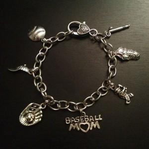 baseball mom charm bracelet