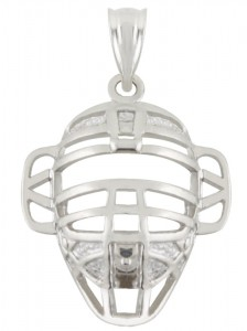 sterling silver catchers mask charm
