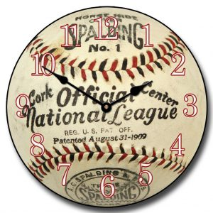 1909 Vintage Baseball Wall Clock