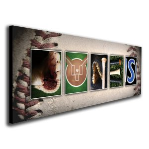 Personalized Baseball Name Art Print