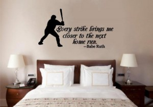 babe ruth quote sticker