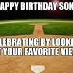 baseball birthday son meme