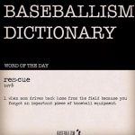 baseball dictionary rescue