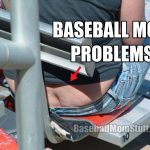 baseball mom problems butt crack on bleachers meme
