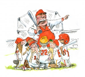 baseball team cartoon