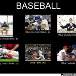 baseball what my friends think i do what i do meme