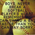 boys never break a softball players heart meme