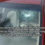 broken window parking spot meme