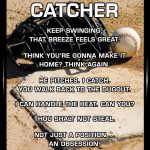 baseball catcher quote meme