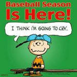 charlie brown baseball season is here meme