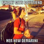 finally gets boyfriend her new demarini meme