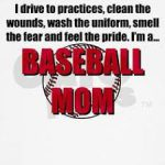 i drive to practices clean the wounds baseball mom meme