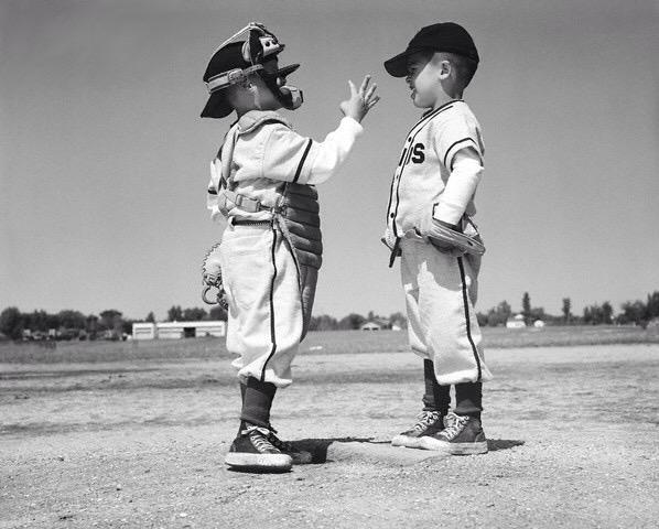 Little Kids Playing Catcher