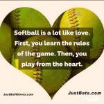 softball heart meme