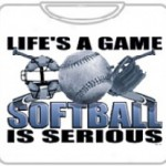 lifes a game softball is serious softball meme