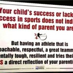 your childs success or lack of success sign