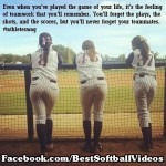 even when youve played the game of your life womens softball girls on fence meme