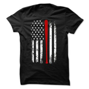 american baseball flag bat tshirt