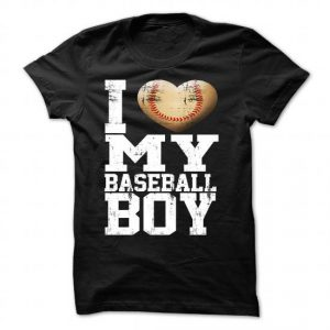 i heart my baseball boy tshirt