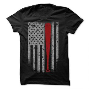 baseball flag with bat tshirt