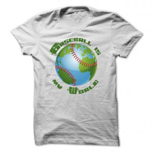 baseball is my world mens white tshirt