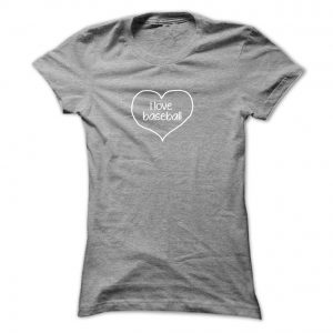 i love baseball 6 inch final shirt mockup ladies sports gray