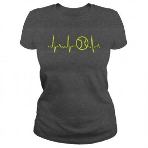 softball heartbeat tshirt