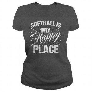 softball is my happy place tshirt
