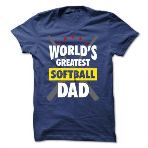 worlds greatest softball dad tshirt