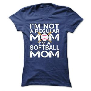 im not a regular mom im a softball mom tshirt