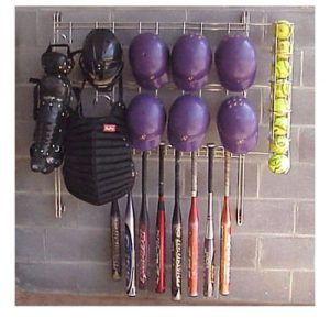 metal baseball rack