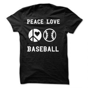 peace love baseball tshirt