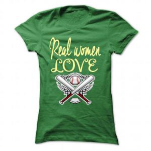 real women love baseball tshirt
