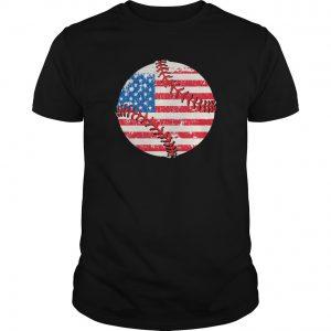 round baseball flag tshirt