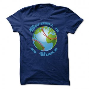 softball is my world mens navy blue tshirt