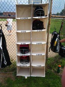 helmet closet organizers