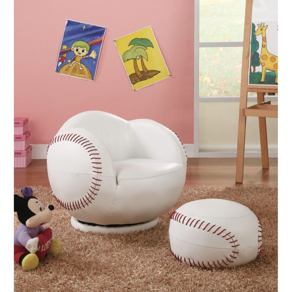 Kid's Baseball Chair and Ottoman by Wildon Home