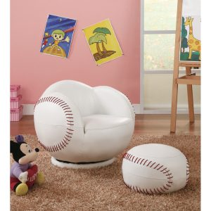 Wildon Home ® Baseball Kids Novelty Chair and Ottoman