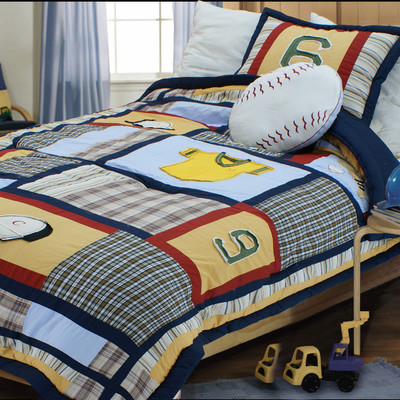 Baseball Comforter Set by Textiles Plus Inc.