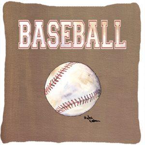 Caroline's Treasures Baseball Indoor/Outdoor Throw Pillow