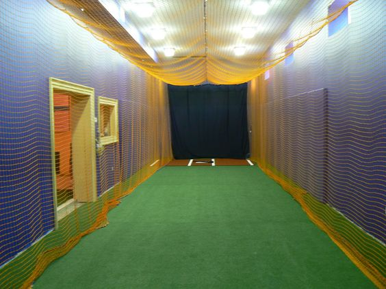 Diy home indoor batting cage pictures to pin on pinterest for Design indoor baseball facility