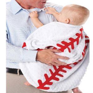 minky baseball blanket