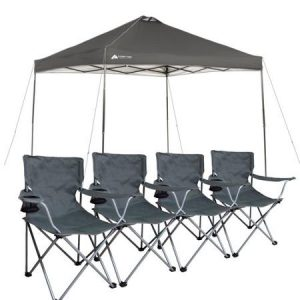 ozark trail canopy with chairs