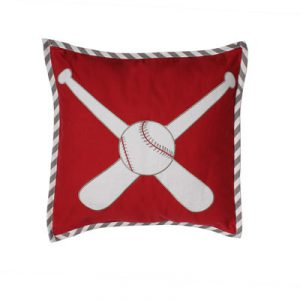 Bacati Baseball Dec Cotton Lumbar Pillow