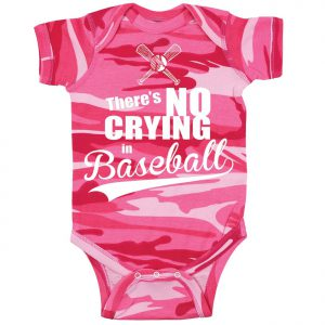 theres no crying in baseball onesie