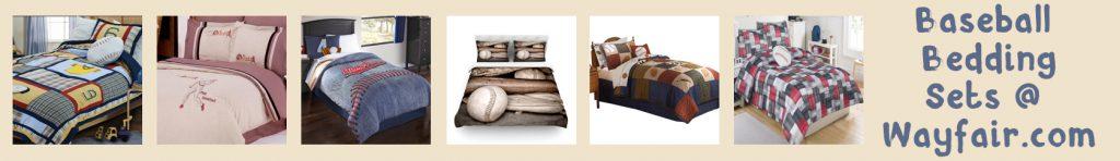 wayfair baseball bedding banner thin orange