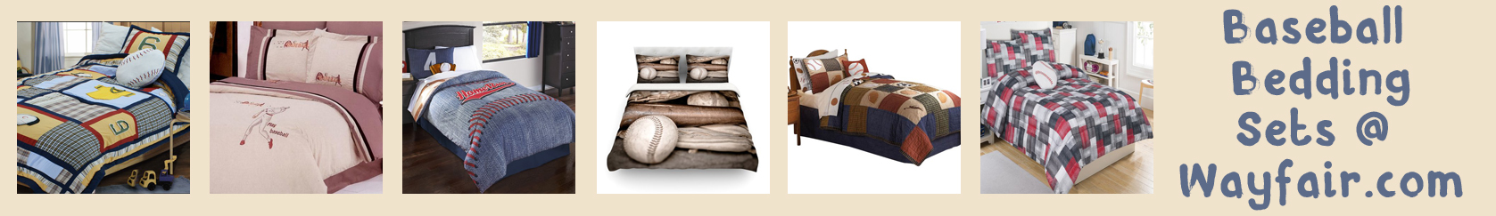wayfair baseball bedding banner thin orange