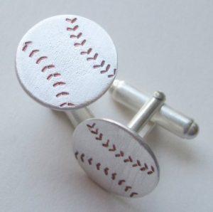 baseball cuff links