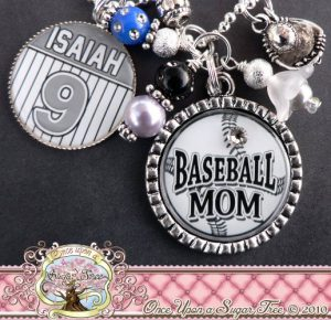 chunky personalized baseball bracelet